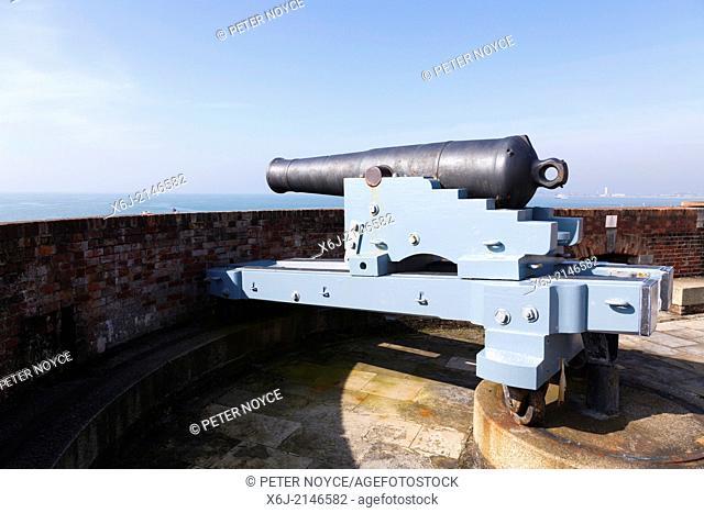 Pivot gun cannon at Southsea Castle