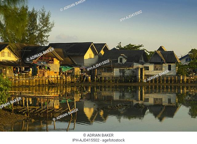 Early morning calm at Bophut fishing village near Maenam on the Thai island of Koh Samui