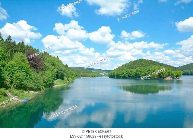 die Aggertalsperre im Bergischen Land,NRW,Deutschland