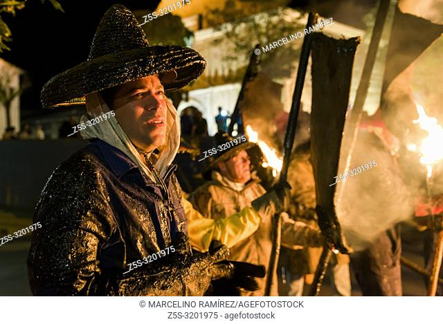 "El Vítor, also known as Civic Procession """"El Vítor"""", is a declared festival of National Tourist Interest. Mayorga, Valladolid, Castilla y Leon, Spain, Europe"