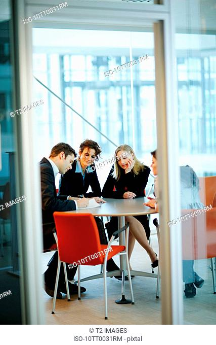 People in a business meeting