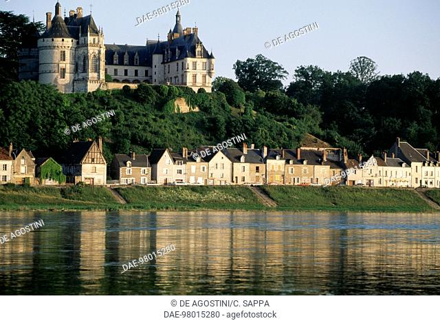Chaumont-sur-loire castle, 15th century, and the Loire river, Centre, France