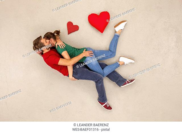 Cuple in love embracing each other