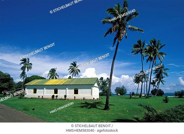France, New Caledonia, Northern Province, the village church of Poum