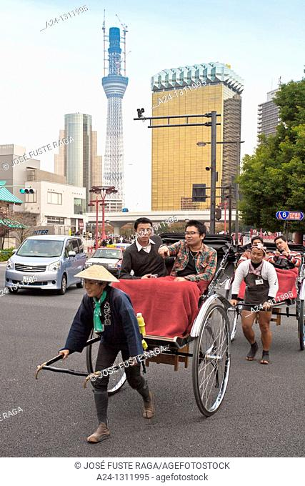 Tokyo City, Asakusa District, Traditional transport
