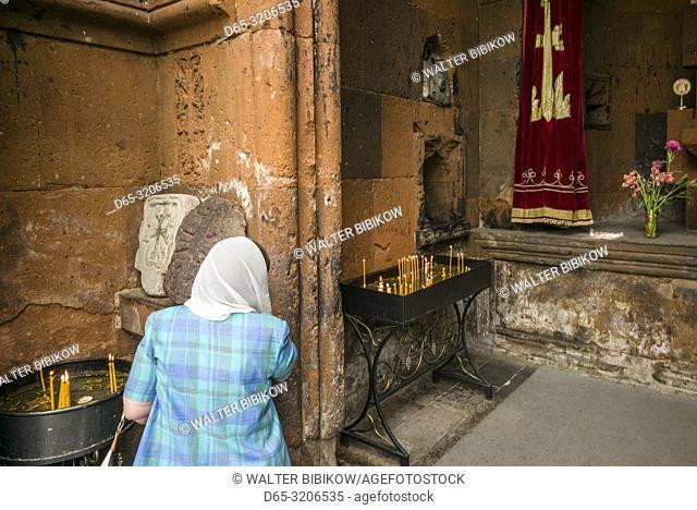 Armenia, Yerevan, Katoghike church, 13th century, interior, NR