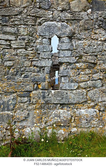 Teampall Chiaráin Church  Inishmore Island, Aran Islands, Galway County, West Ireland, Europe