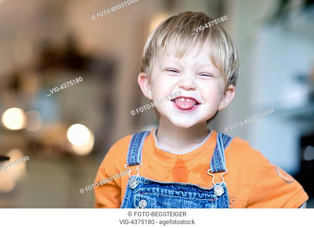 laughing little boy, 4 years old - , 23/04/2014