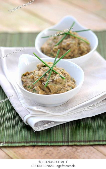 Eggplant caviar with moroccan spices
