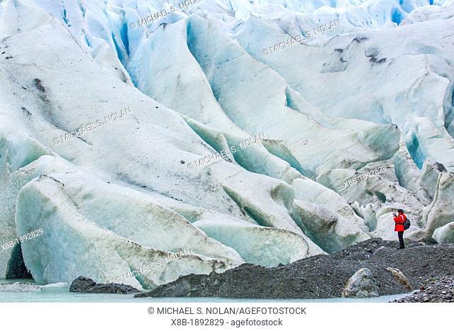Bernal Glacier in Estero Las Montanas, Strait of Magellan, Patagonia, Chile