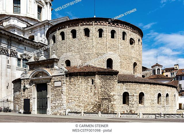 Italy, Brescia, view to Old Cathedral