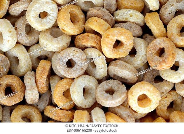 A close up shot of breakfast cereals