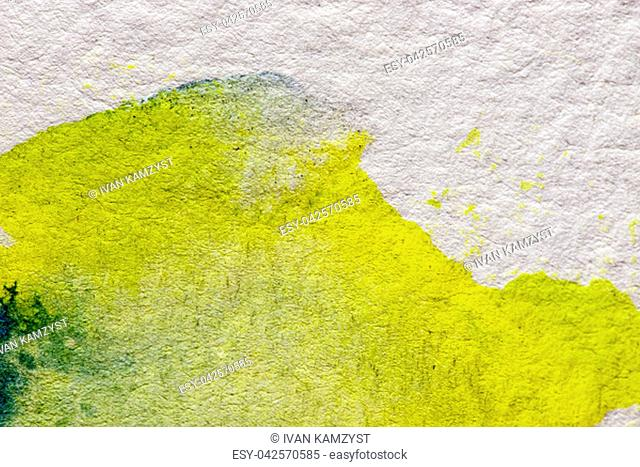 Abstract aquarelle hand drawn art on white background, Watercolor grunge texture backdrop