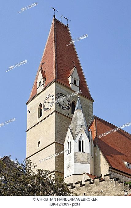 Church in Weißenkirchen, area of Wachau, Lower Austria, Austria