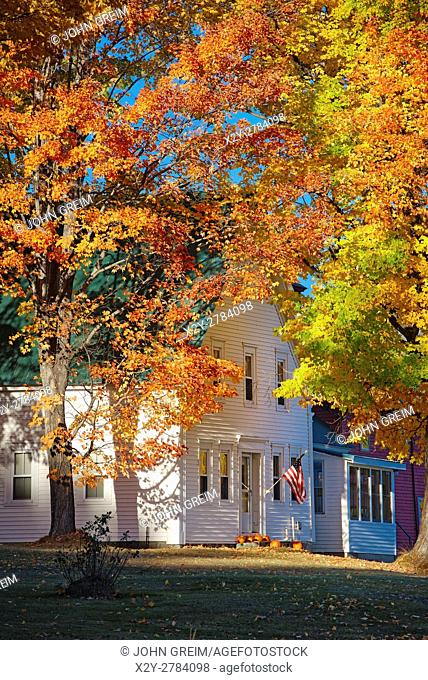 Charming autumn farmhouse, New Hampshire, USA