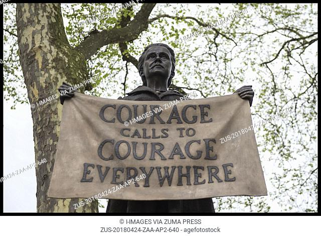 April 24, 2018 - London, London, United Kingdom - A statue of Millicent Fawcett, a Suffragist, who fought for the women's right to vote in the early 20th...