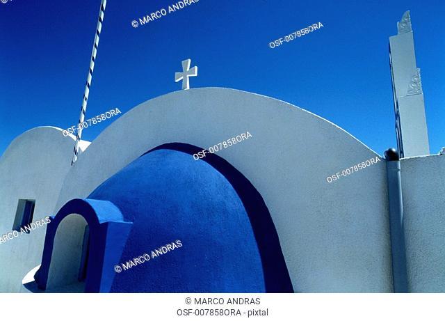 mykonos grecia view of a church architecture building