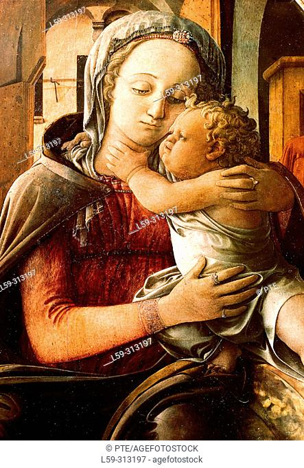 'Madonna and child', painting by Fra Filippo Lippi