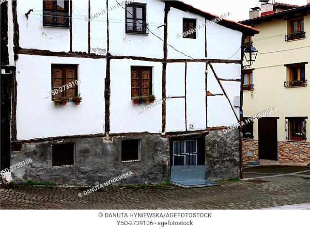 architecture of old town of Covarrubias. Ruta del Cid, Burgos province, Castilla-León, Castile and León, Castilla y Leon, Spain, Europe