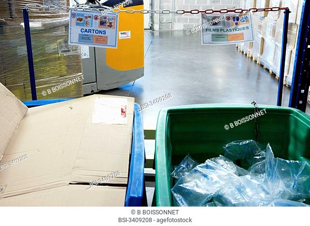 Photo essay in the factory Lea Nature which makes natural and organic produts food supplements, cosmetics, organic food. Trash sorting