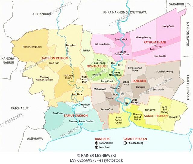 bangkok metropolitan region map