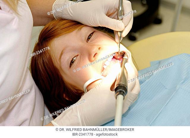 Boy at the dentist's, dental hygiene, dental care, dental treatment, dental visit