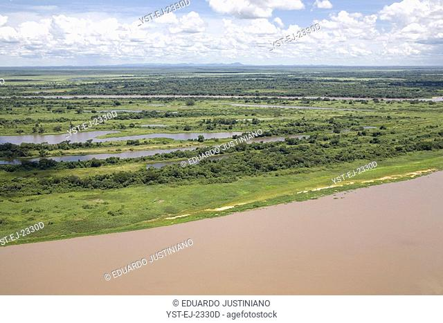 Paraguai River and Marginal Ponds and Point Bars, Corumbá, Mato Grosso do Sul, Brazil