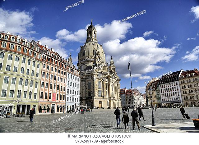 Frauenkirche church or Church of Our Lady, Dresden, Saxony, Germany, Europe