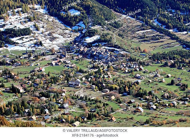 Village of Saint Dalmas, Vallée de la Tinée, Alpes-Maritimes, Mercantour national park, Provence-Alpes-Côte d'Azur, France
