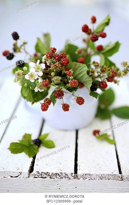 Vintage bouquet of berries