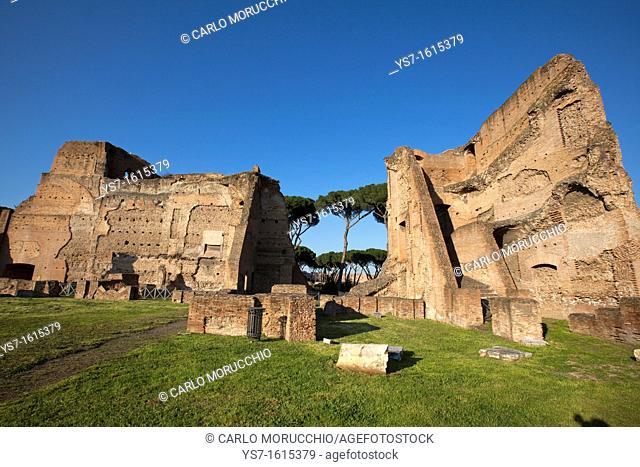 Imperial palace at Forum Romanum, Palatine Hill, Rome, Lazio, Italy, Europe