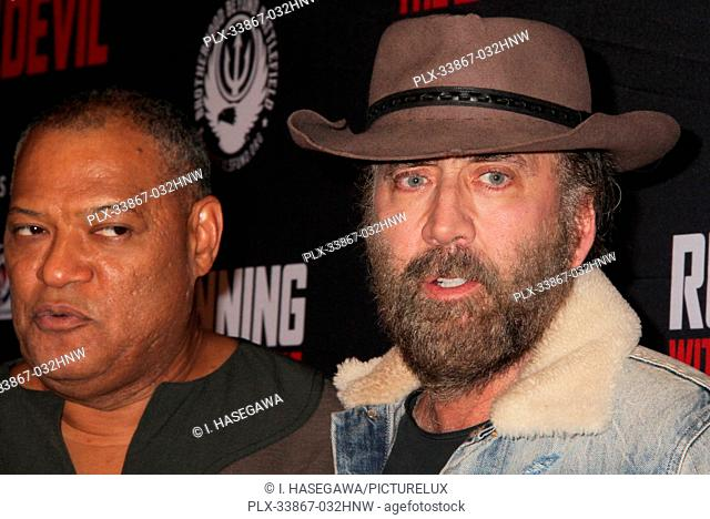"Laurence Fishburne, Nicolas Cage 09/16/2019 """"Running with the Devil"""" premiere held at Writers Guild Theater in Beverly Hills, CA Photo by I"