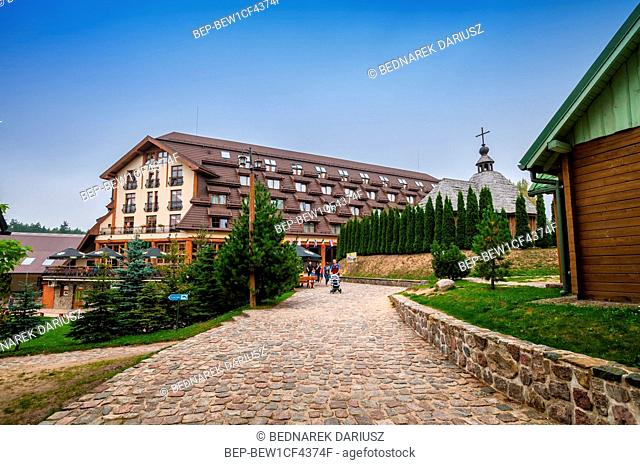 Hotel and Kashubian crown brewery. Centre for education and regional promotion. Szymbark, village in Pomeranian Voivodeship, Poland