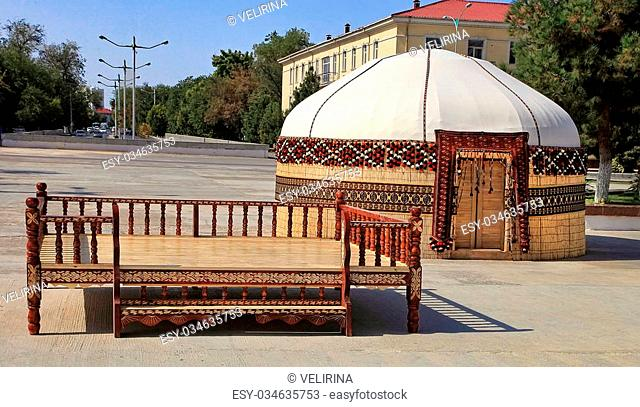 Bed yurt Stock Photos and Images | age fotostock