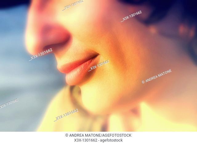 Woman close up portrait