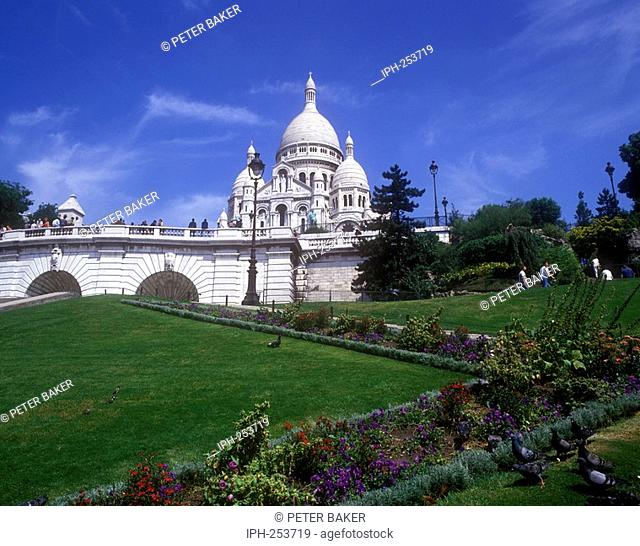 France, Paris, French, Capital, City, Sacre Coeur, Cathedral, Basilica, Sacred Heart, Religious, Catholic, White, Stone, Building, Architecture, Montmartre