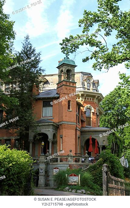 Harry Packer Mansion, now a bed and breakfast, in Old Mauch Chunk Historic District, Jim Thorpe, Pennsylvania, United States, North America