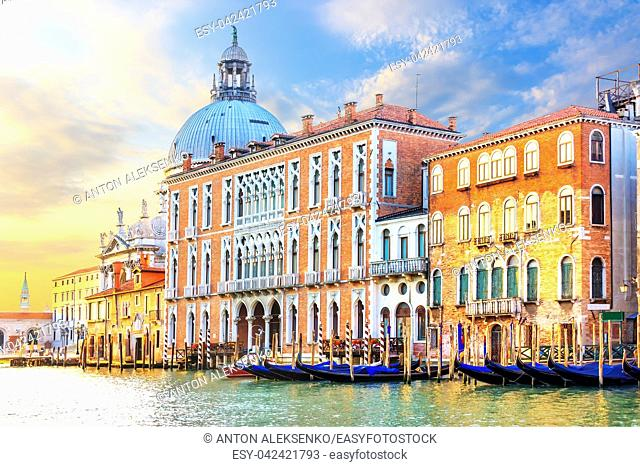 Grand Canal of Venice and the dome of Basilica Santa Maria della Salute