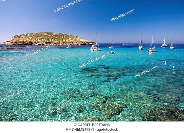 Spain, Balearic Islands, Ibiza island, Cala Comte