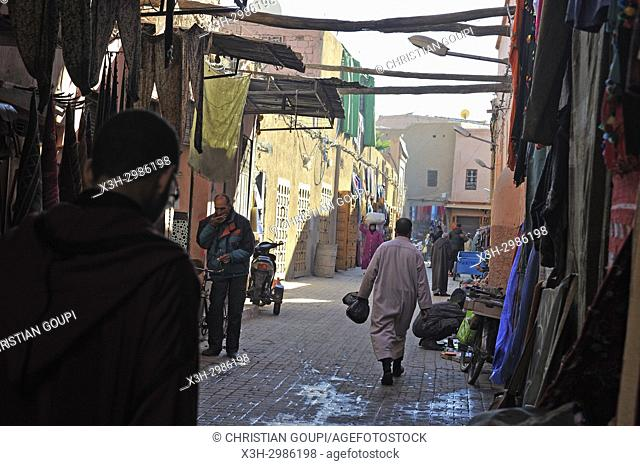 souk in the medina, Marrakesh, Morocco, North Africa