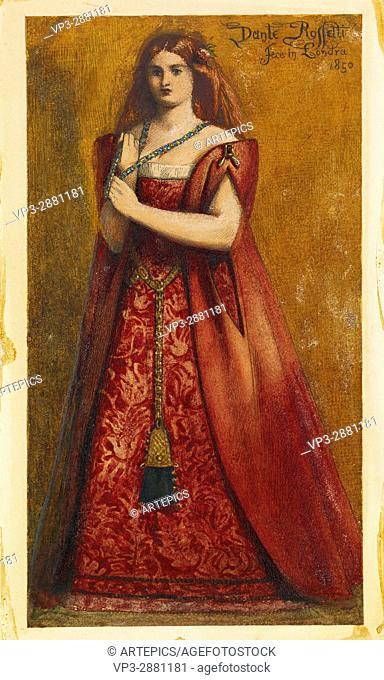 Dante Gabriel Rossetti - Rosso Vestita (Dressed in Red) - Birmingham Museum and Art Gallery