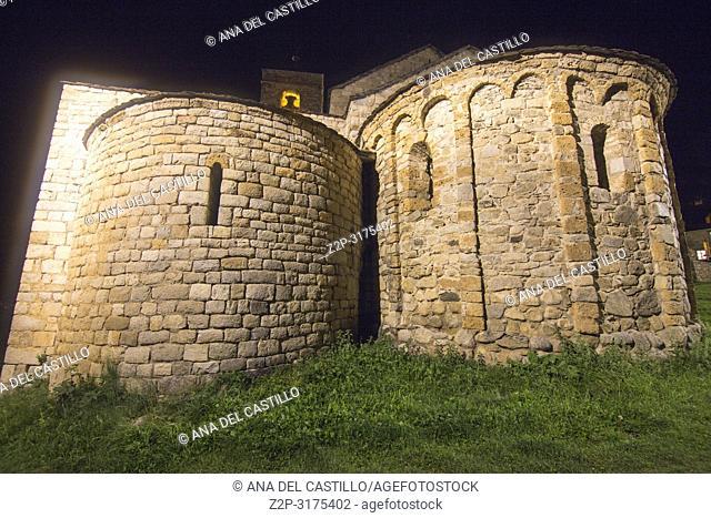 Boi village by night Boi valley Catalonia Spain