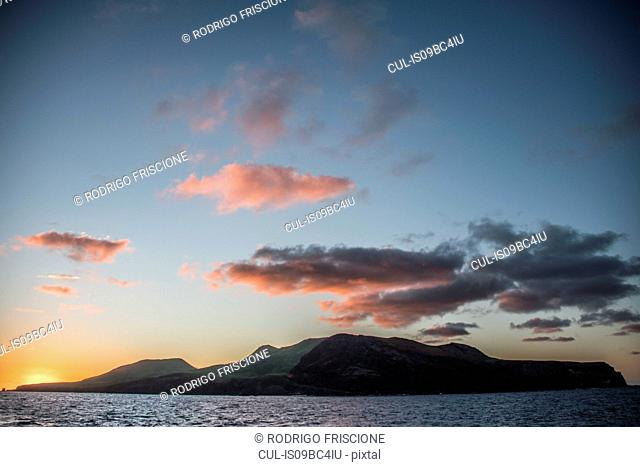 Clarion Island at sunset, Socorro, Baja California