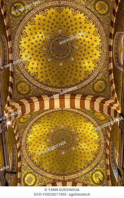 Notre Dame de la Garde, Marseille, Bouches du Rhone, France