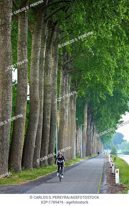 Damse Vaart de Damport, Road that connects Bruges with Damme, Flanders, Belgium