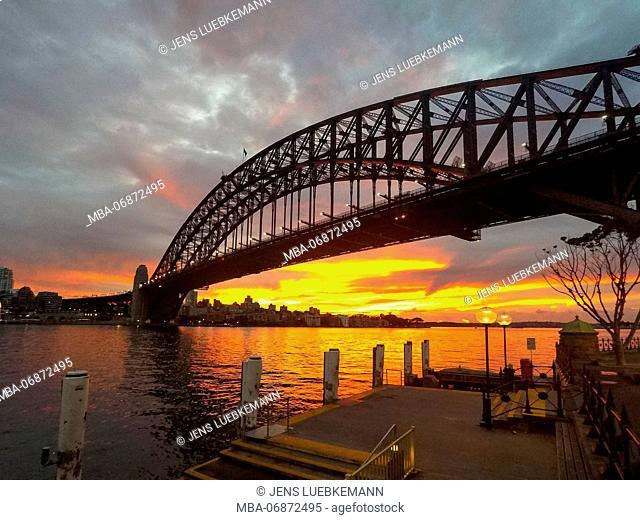 Australia, Sidney, harbour Bridge, Sunset