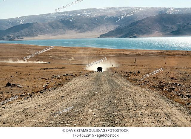 pristine Lake Tolbo in the Altai Region of Bayan-Ölgii in Western Mongolia