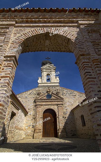 Hermitage of San Benito Abad (15th century), El Cerro del Andevalo, Huelva province, Region of Andalusia, Spain, Europe