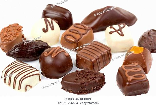 Set chocolate candies