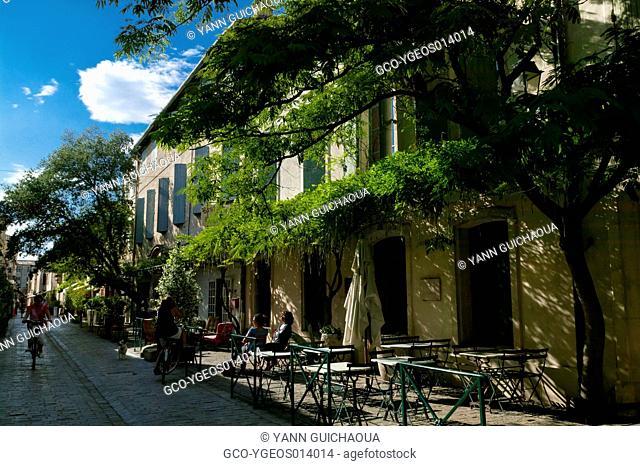 Rue De La Republique,Aigues-Mortes, Gard, Languedoc-Roussillon, France